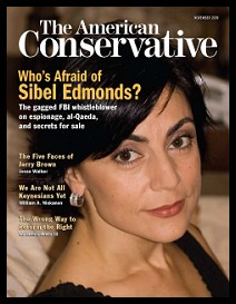 Image of Sibel Edmonds on cover of American Conservative