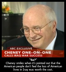 Career miltary Dick cheney