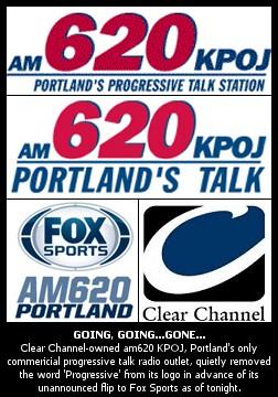 BREAKING: Portland's Clear Channel-owned KPOJ Progressive
